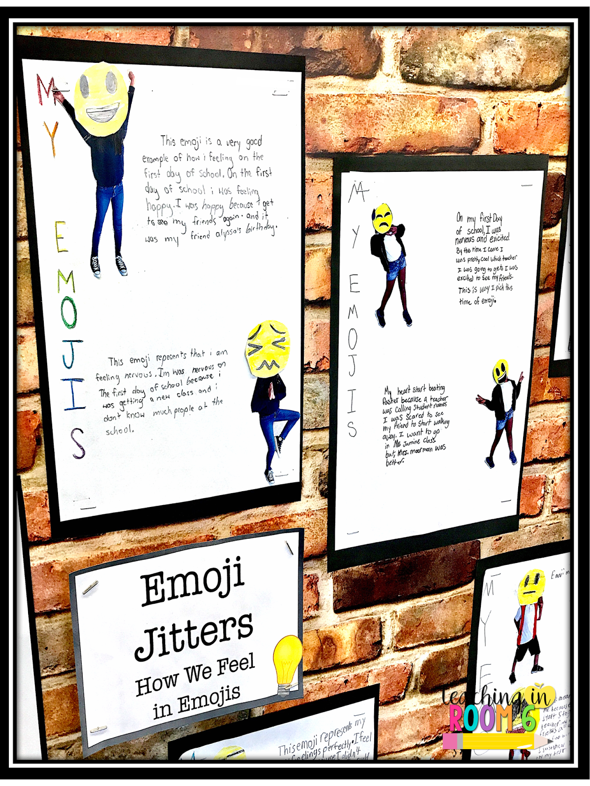 In fifth grade, use First Day Jitters and emojis to get the kids writing on - First Day Jitters PNG