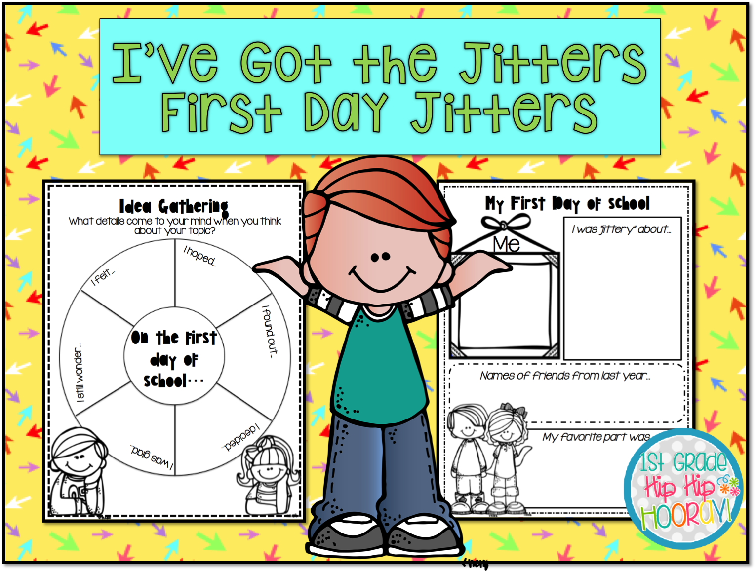 Students can create people to paste on their writing about their own first  day jitters. - First Day Jitters PNG