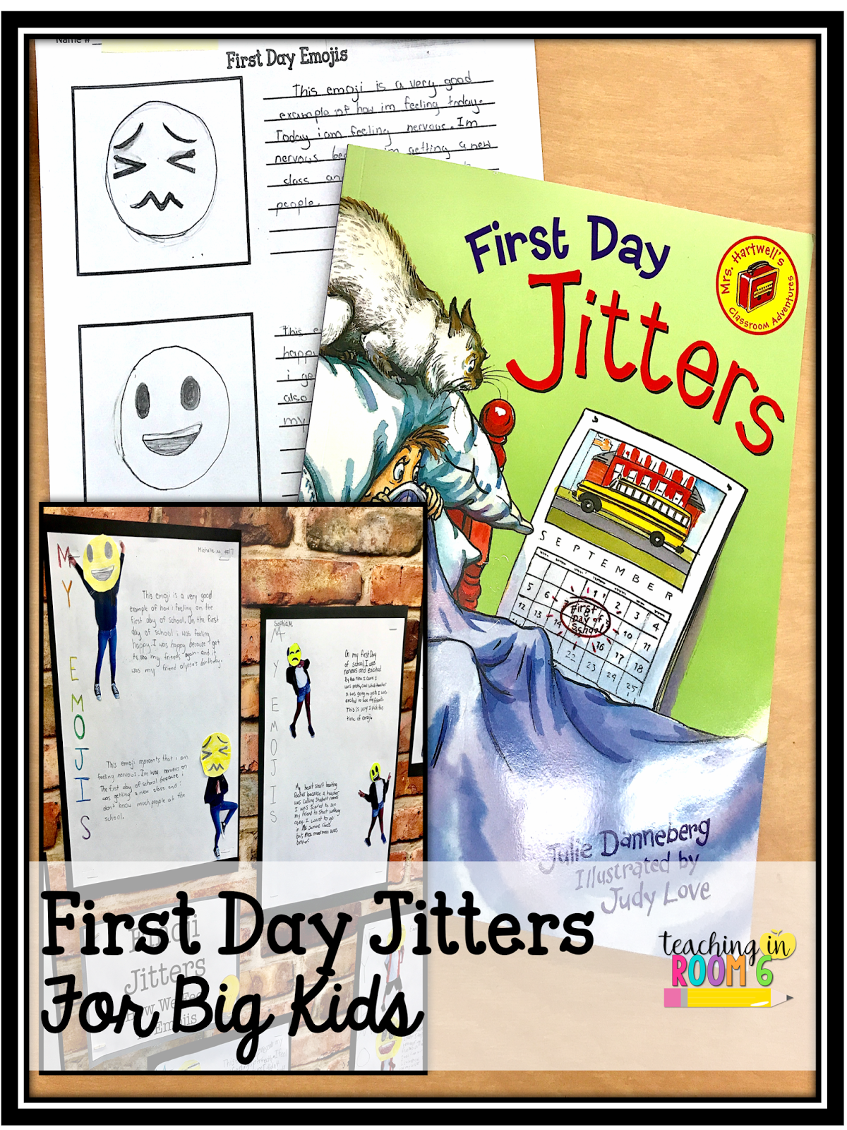 Using First Day Jitters in upper grades - First Day Jitters PNG