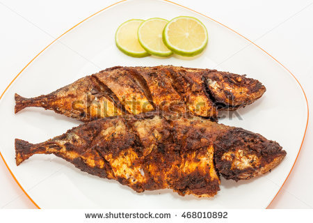 Mackerel Fish Fry In A Plate. Prepared In Kerala Style With Hot And Spicy - Fish Fry PNG HD