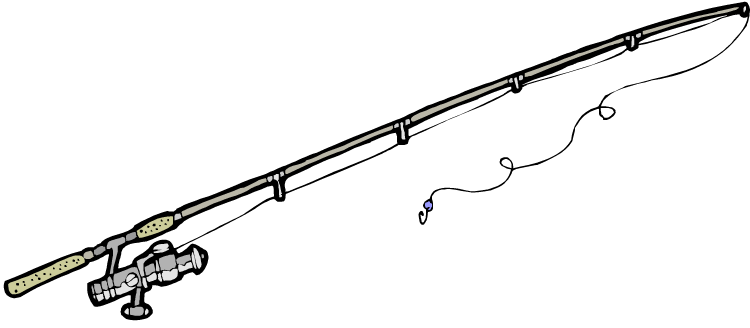 Fly Fishing Rod - Fishing Pole PNG