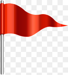 Small red flag, Hd, Metal, Triangle PNG and PSD - Flag HD PNG