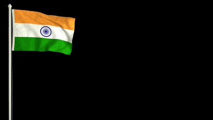 0:30 Indian flag waving in the wind with PNG alpha channel for easy project  implementation. - Flag Hoisting PNG