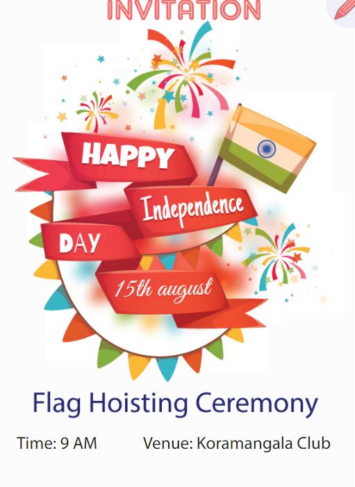 Indian Flag Hoisting Ceremony Invitation - Flag Hoisting PNG