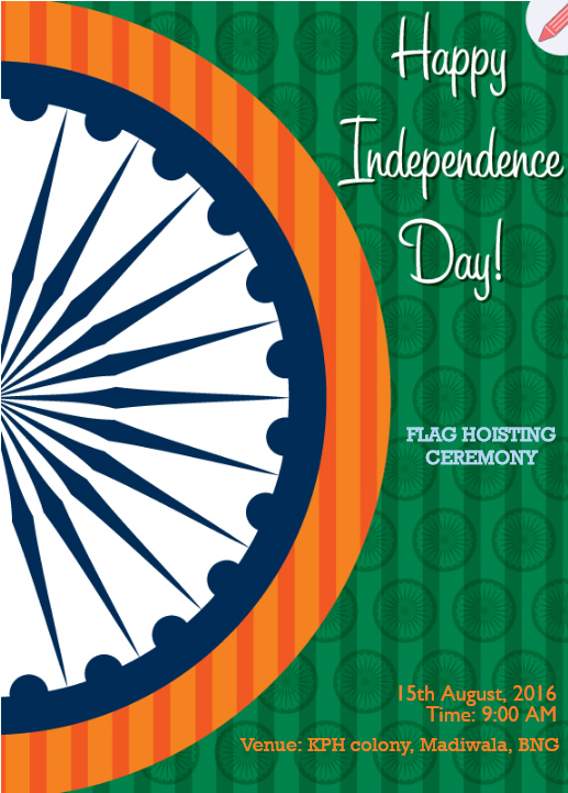 Orange And Green With Ashoka Chakra Indian Flag 2015 | Indian flag and Flags - Flag Hoisting PNG