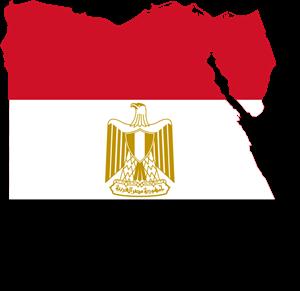 Egypt Flag Logo Vector - Flag Logo Vector PNG