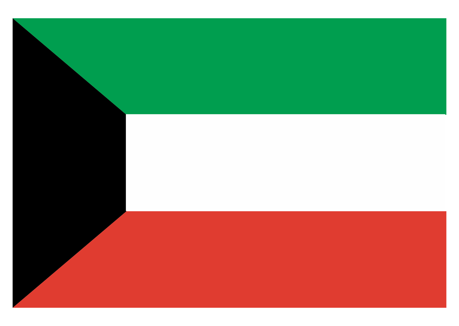 Kuwait Flag Logo Vector