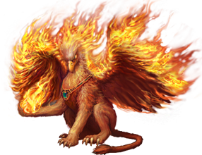 Flame Griffin.png - Griffin PNG