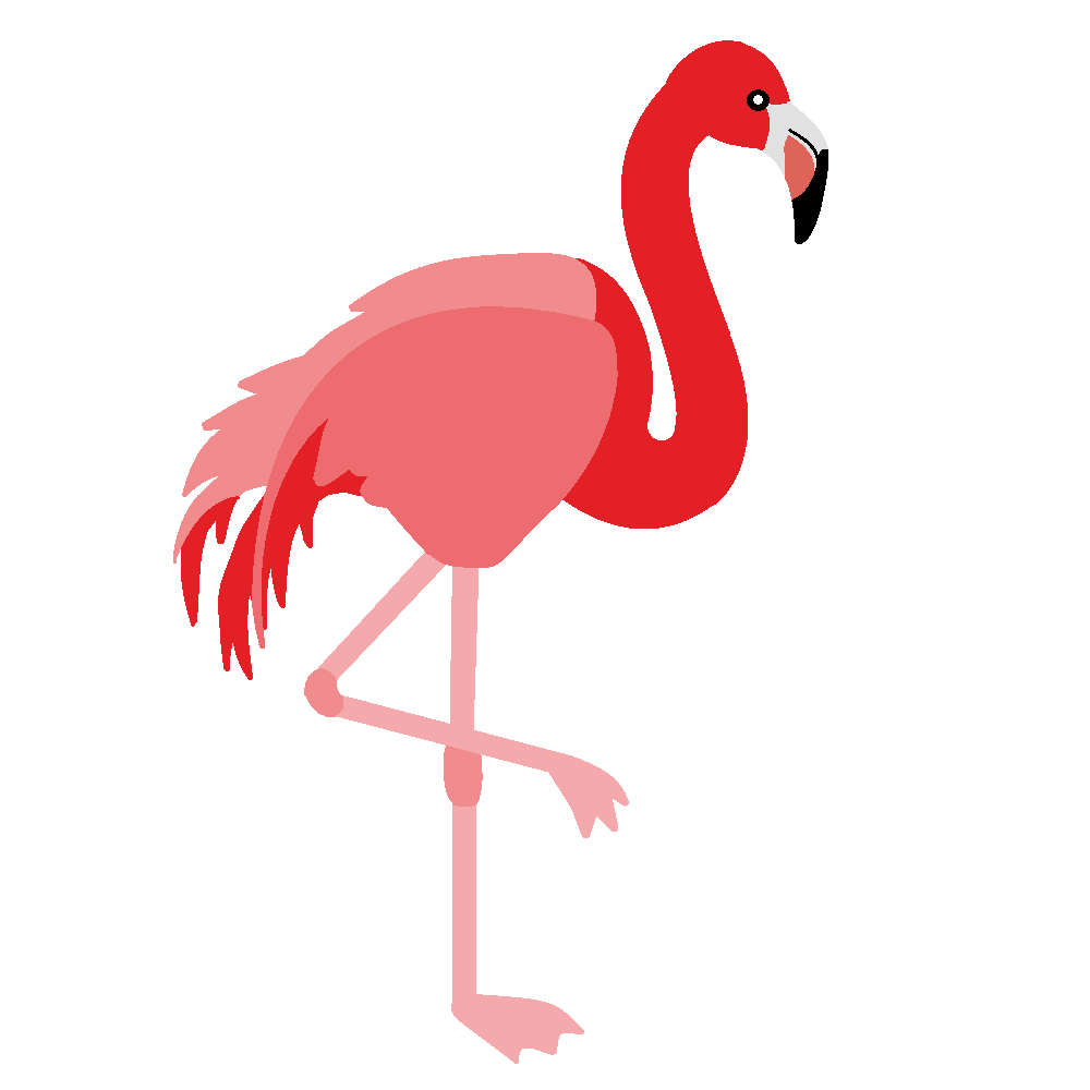 Flamingo Bird Clip Art 2 Png - Flamingo PNG