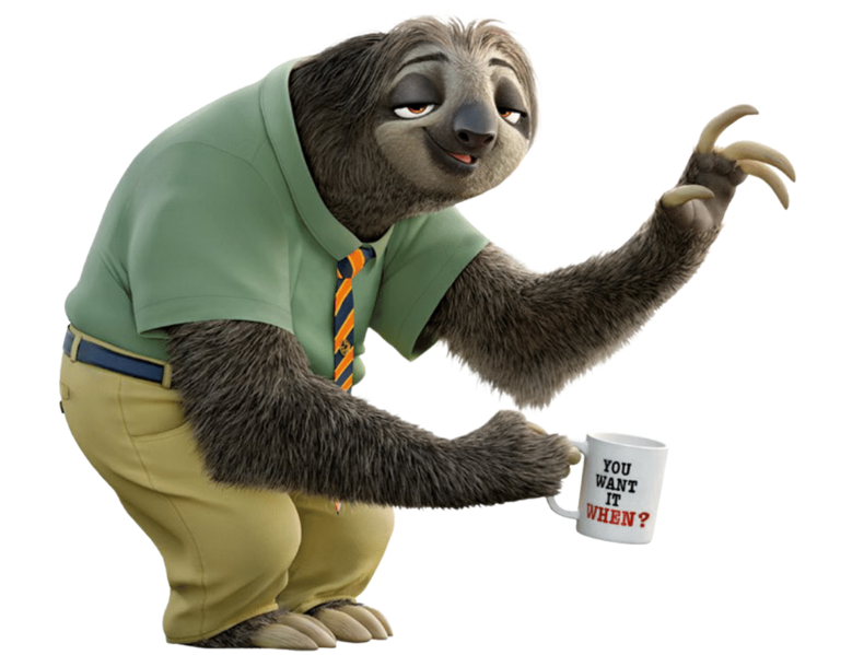 Flash PlusPng.com  - Sloth PNG