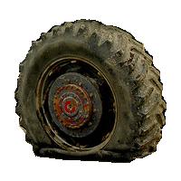 flat tire big - Flat Tyre PNG