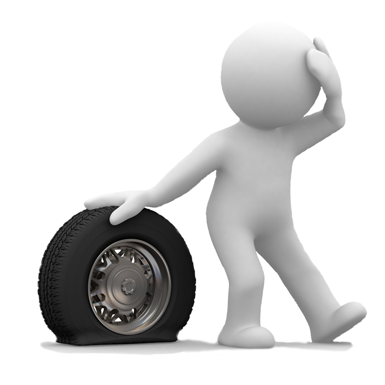 Tyre Insurance for run flat tyres - Flat Tyre PNG