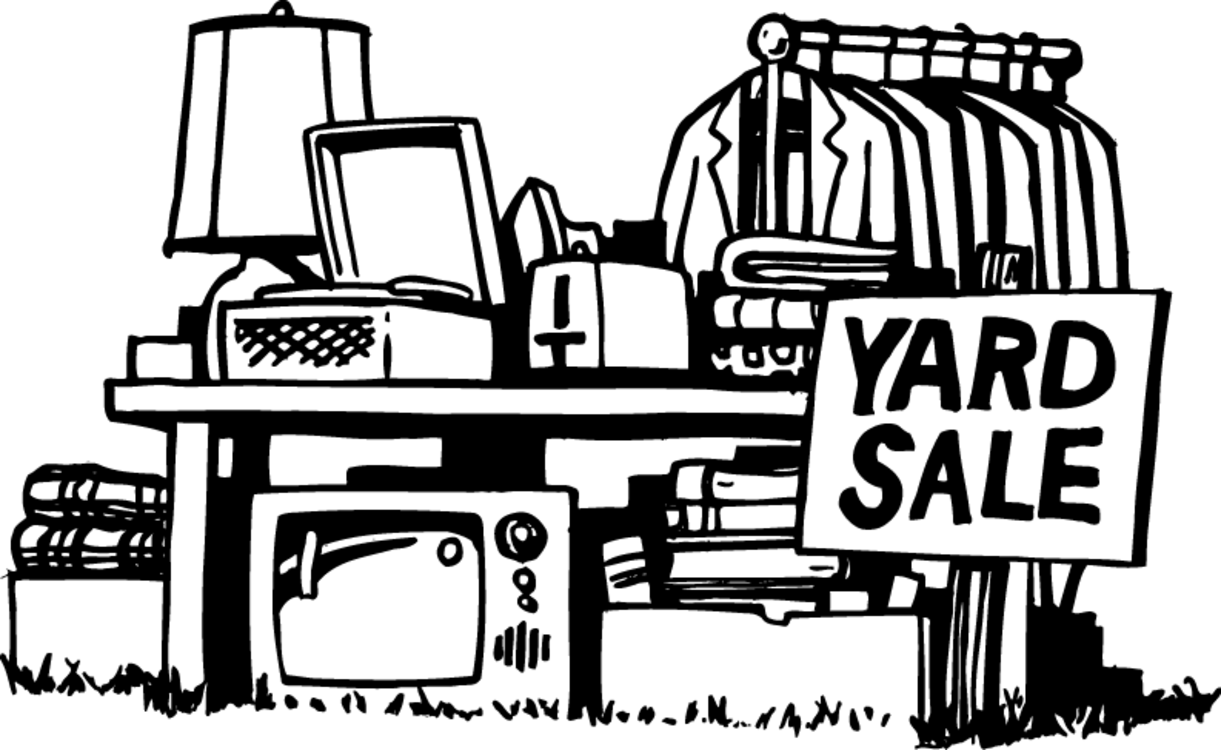 George Mason hosting yard sale in April - Flea Market PNG Black And White