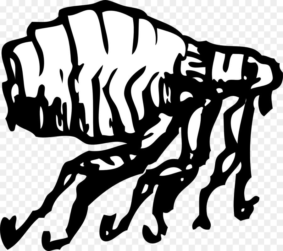 Flea Clip art - flea - Flea PNG Black And White