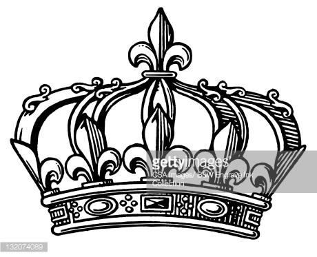 Fleurdelis Crown Stock Illust