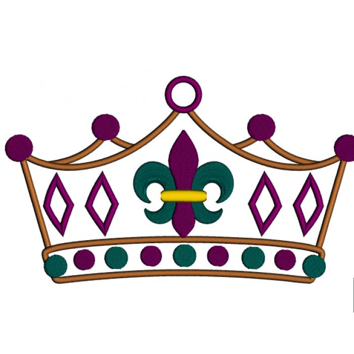 Mardi - Fleur De Lis Crown PNG