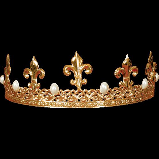 Menu0027s Fleur de Lis Crown - Fleur De Lis Crown PNG