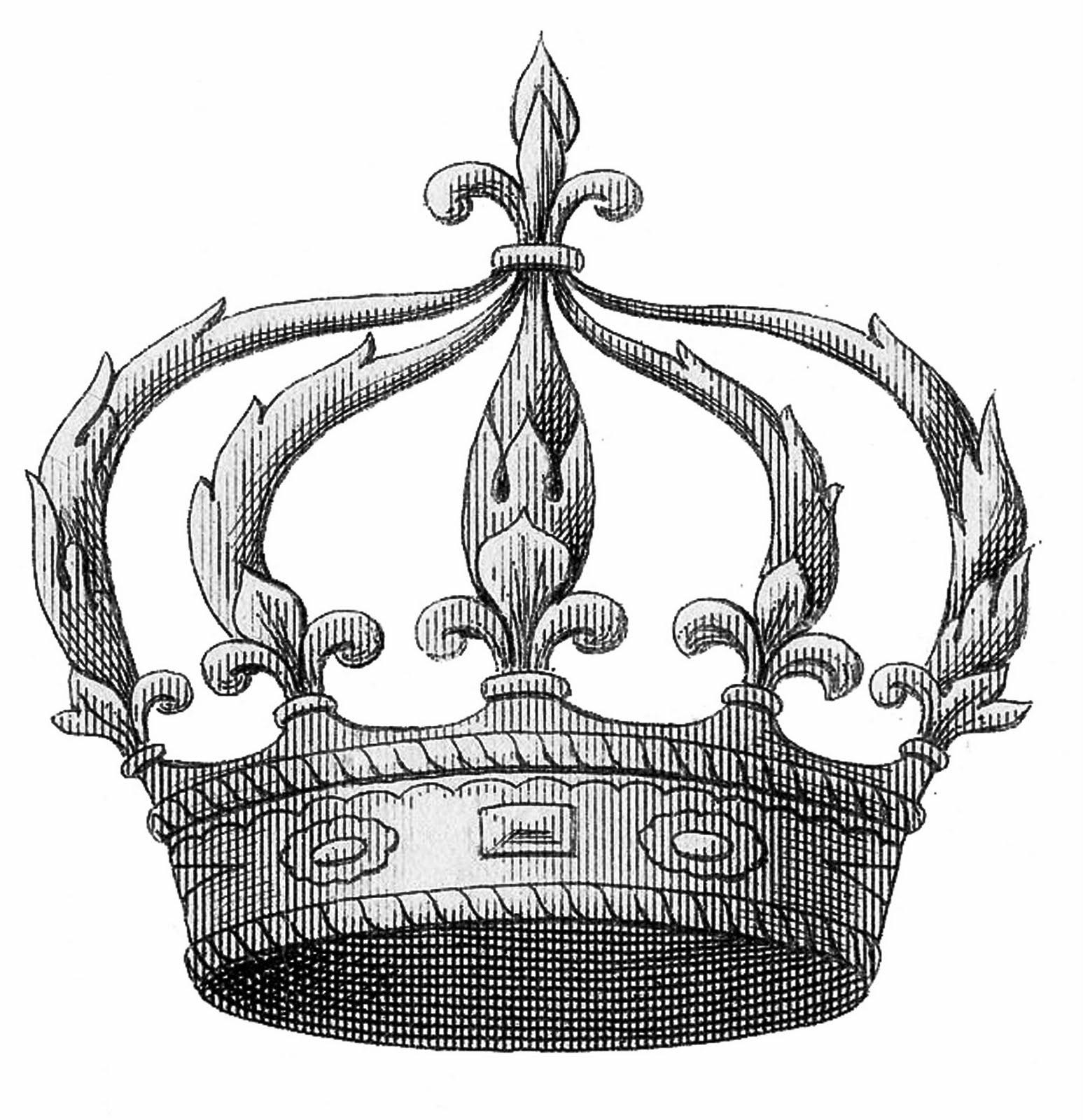 transfer printable u2013 fleur de lis crown clipart - Fleur De Lis Crown PNG
