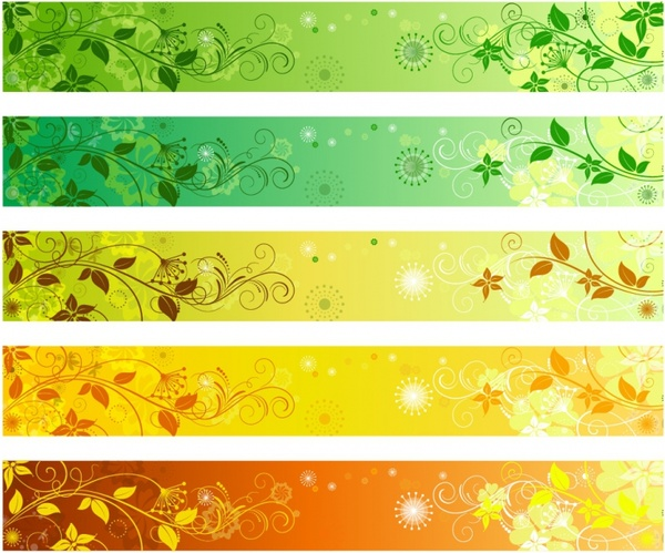 Floral banners - Floral PNG