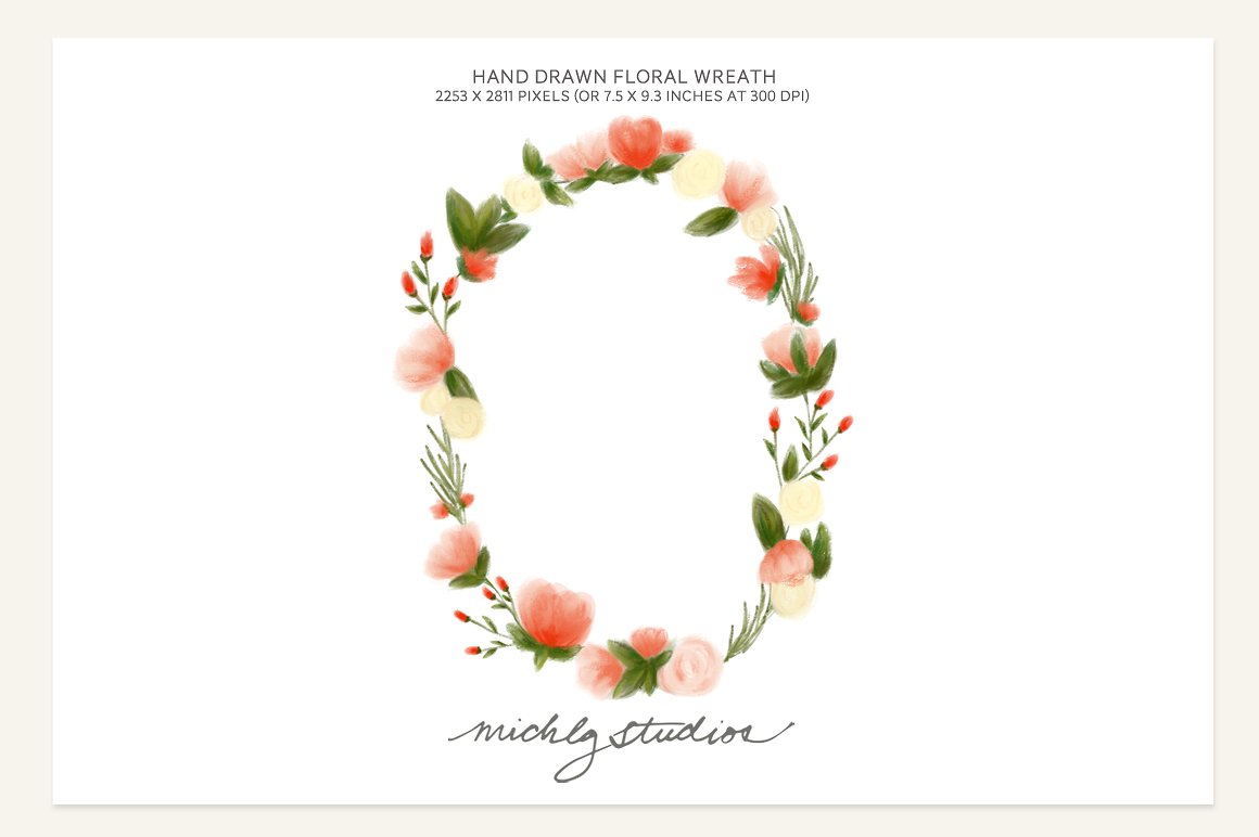 Floral Wreath PNG - 41194