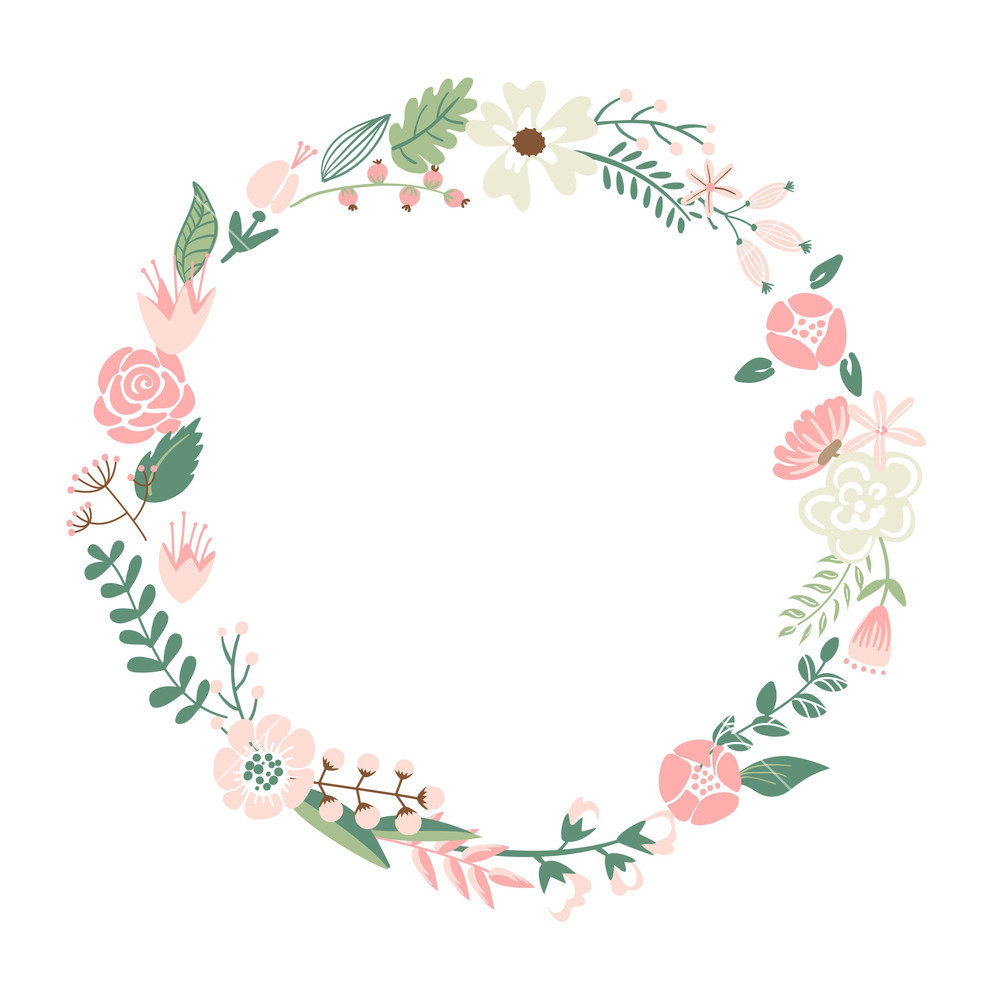 Floral Wreath PNG - 41187