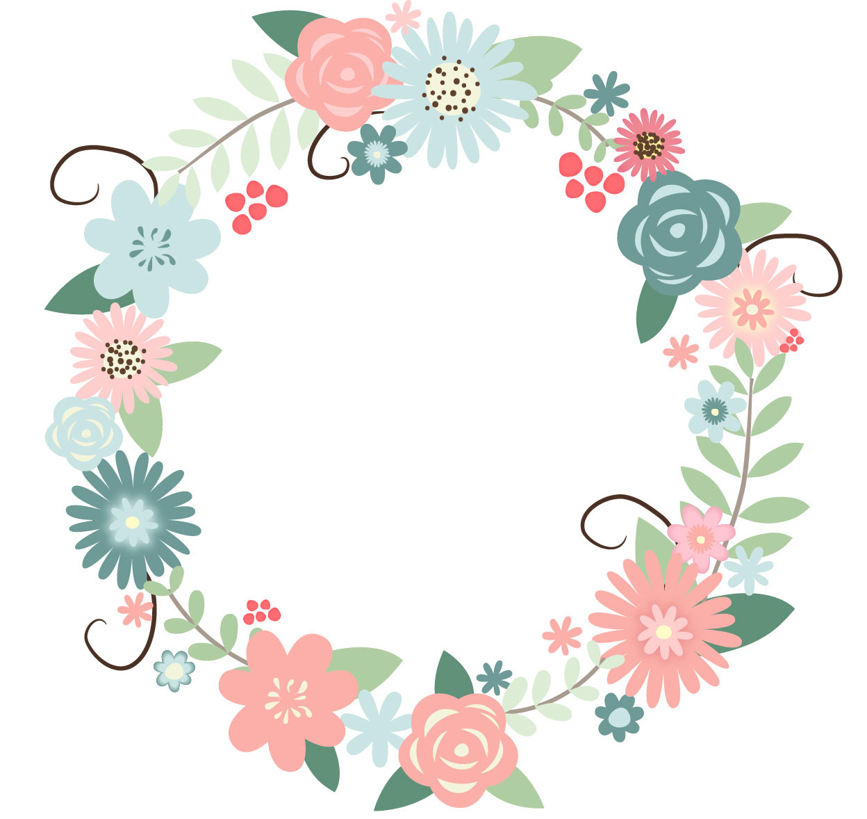 Floral Wreath Png 2237 on Wedding Ring Clip Art Transparent