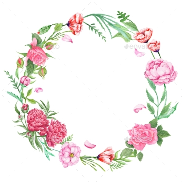 Floral Wreath PNG - 41186