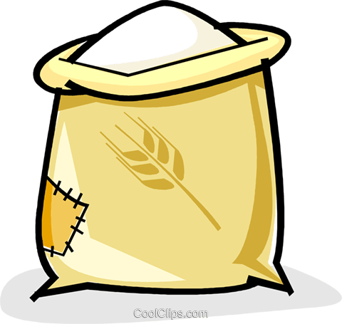 sack of flour Royalty Free Vector Clip Art illustration - Flour Sack PNG