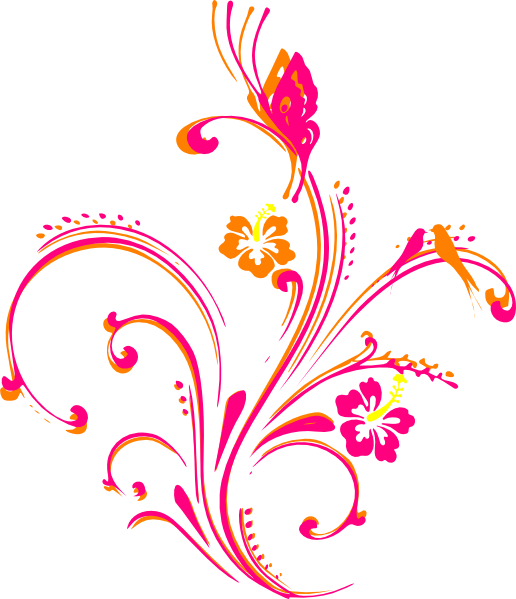 Flower And Butterfly Border Design Png - Photo#5 - Butterfly Design PNG