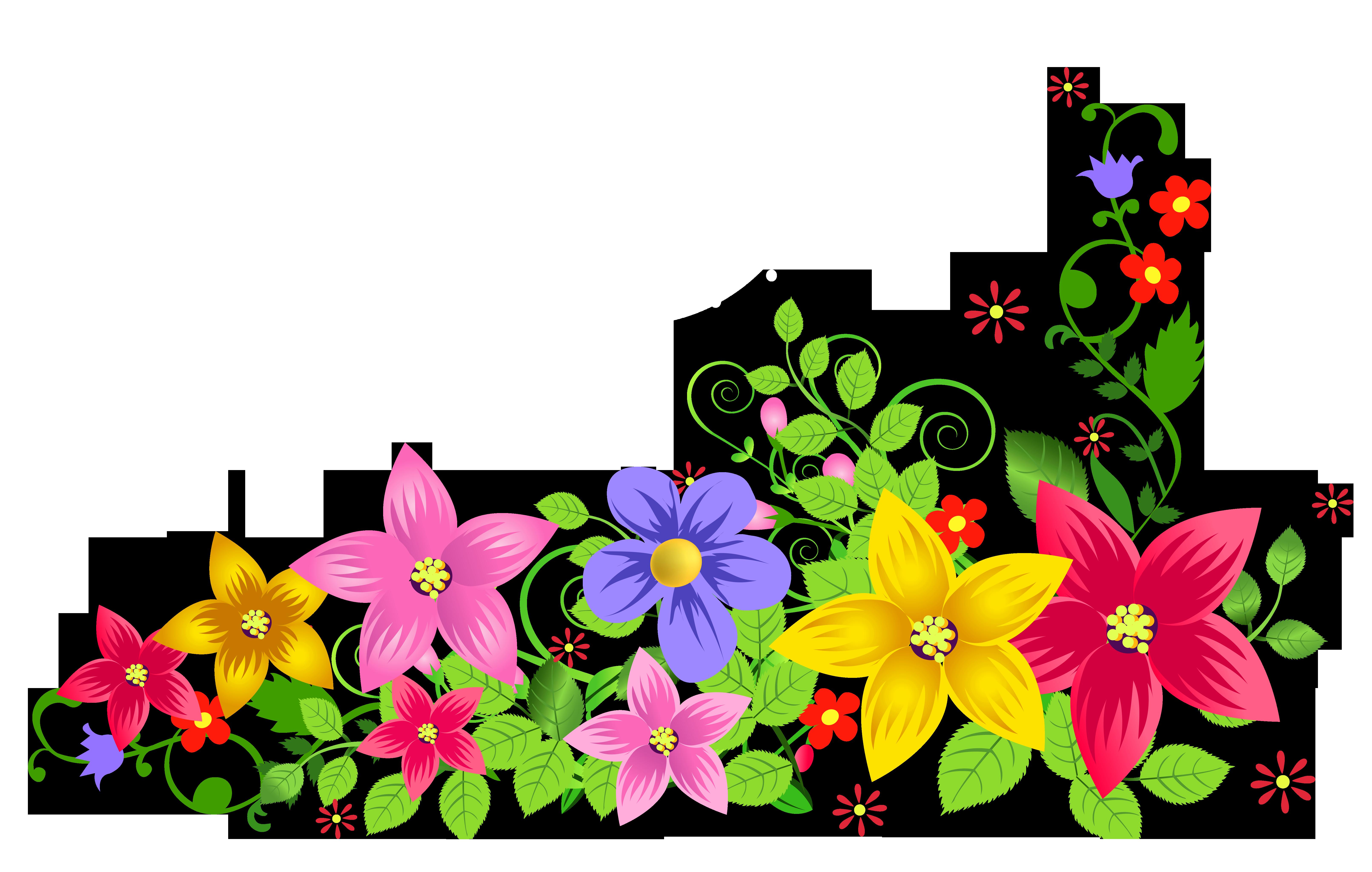 Floral PNG Transparent Image