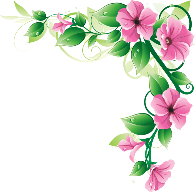 Flowers Borders Png Image PNG Image - Flower HD PNG
