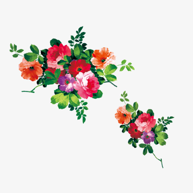 Realistic painting flowers version, Hd, Vector, Flowers PNG and PSD - Flower HD PNG