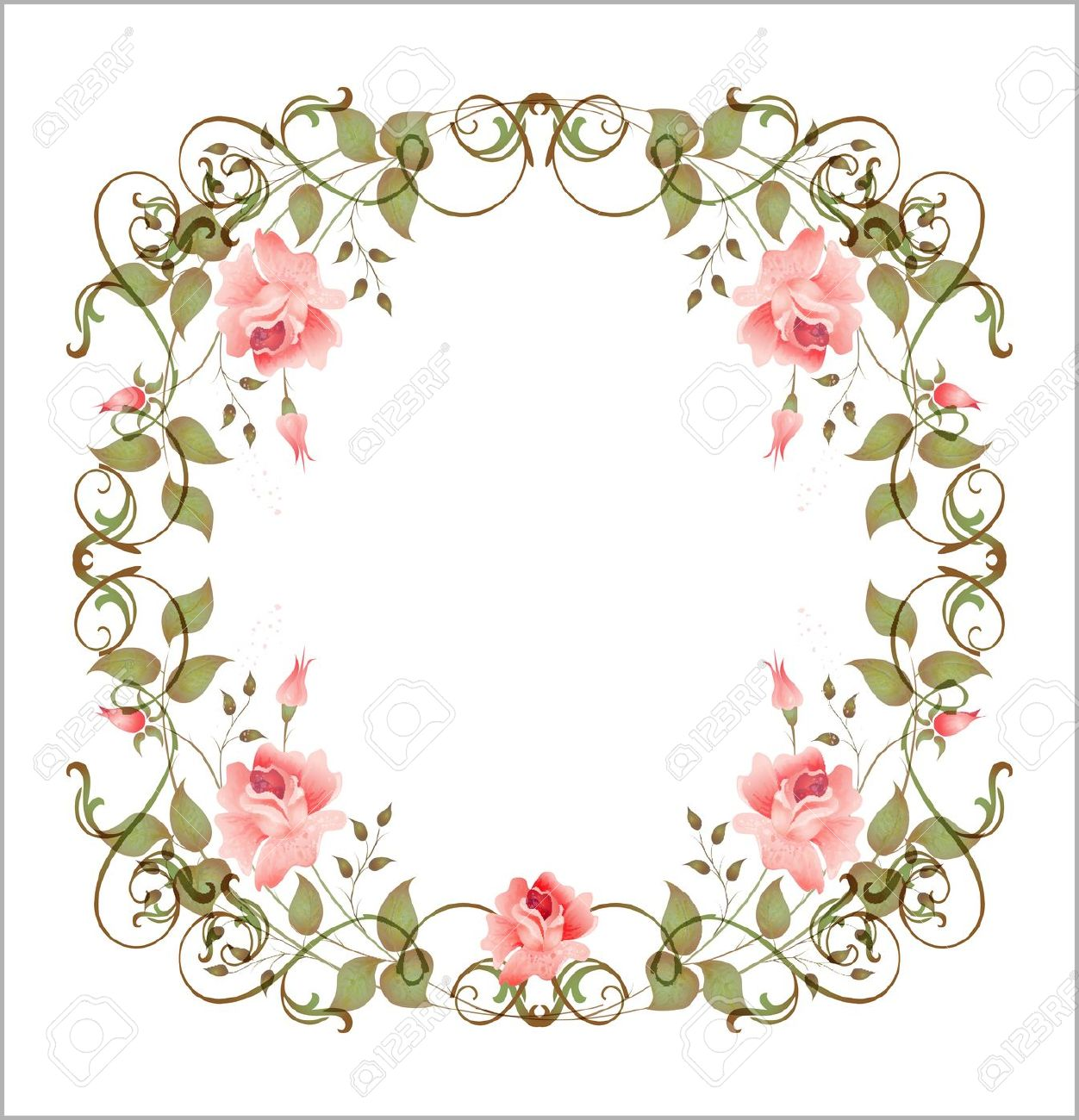 Floral border design, Graphic