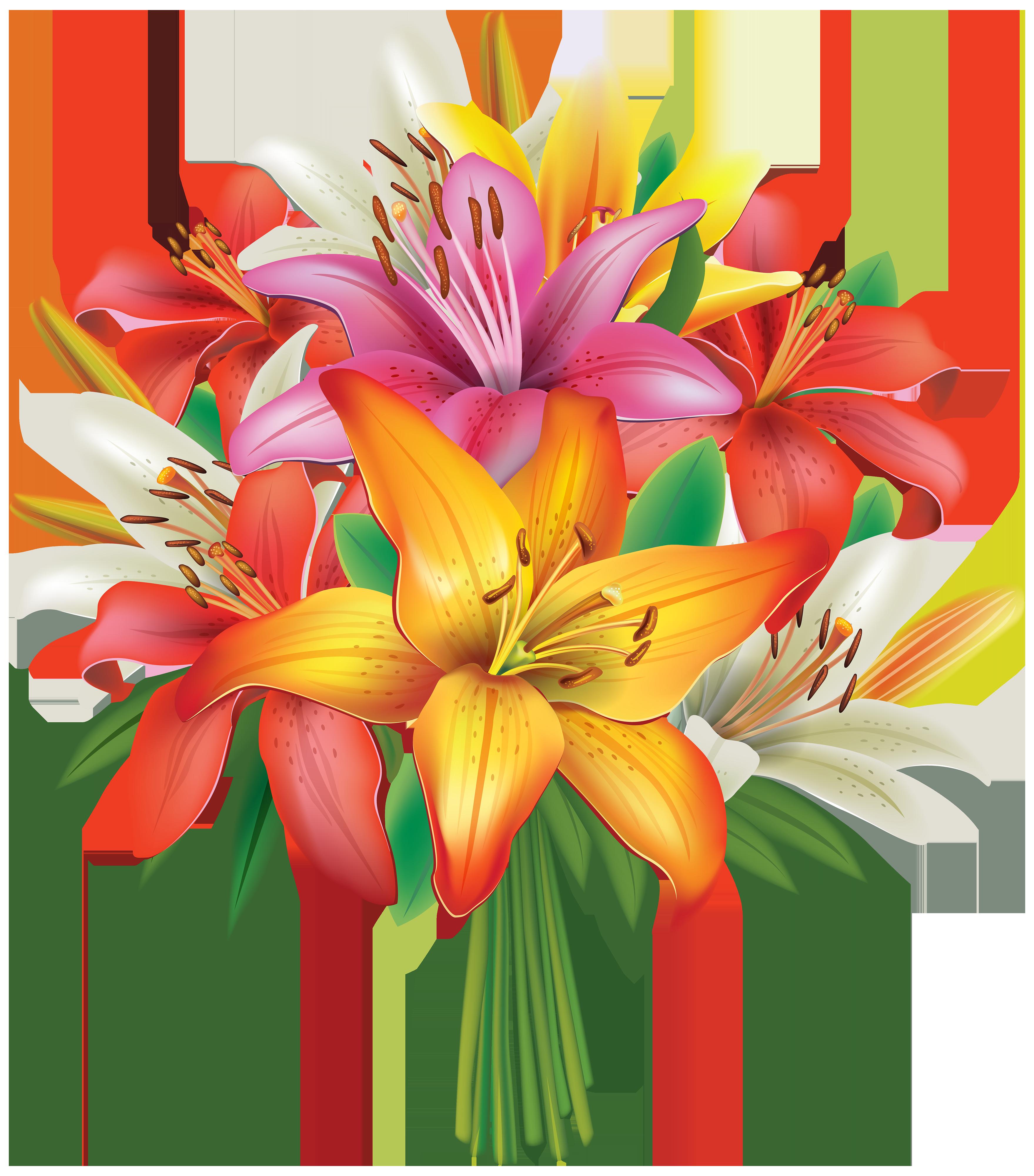 Flower Bunch Clipart - Flower PNG Jpg