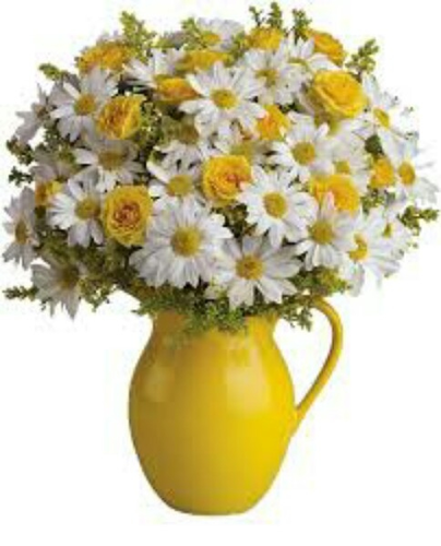 Yellow Flower Pot - Flower Pot PNG