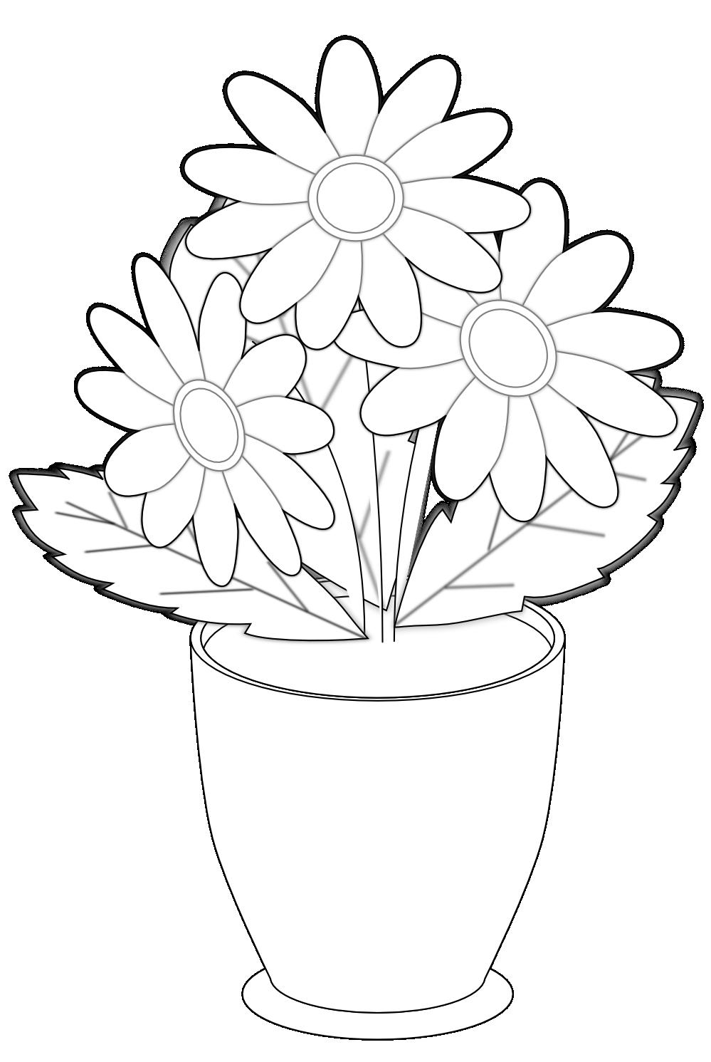 Black And White Flower Vase - Flower Vase PNG Black And White