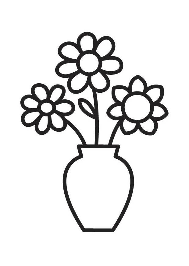 Flower black and white flower clipart black and white 11 - Flower Vase PNG Black And White