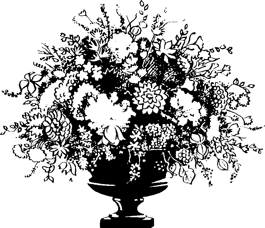 Flower vase png black and white transparent flower vase black and flower vase clipart black and white 6402 flower vase png black and white mightylinksfo