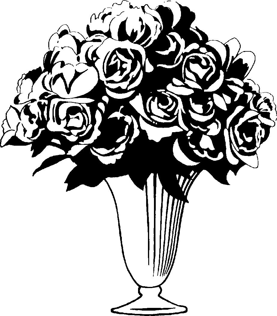 Flower Vase Clipart Black And White Images U0026 Pictures Becuo - Flower Vase PNG Black And White