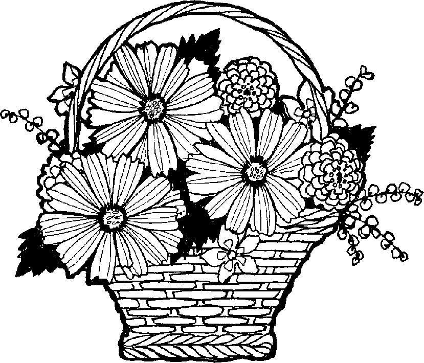 Flower Vase | ClipArt ETC. Clipart « Practica Technical - Flower Vase PNG Black And White
