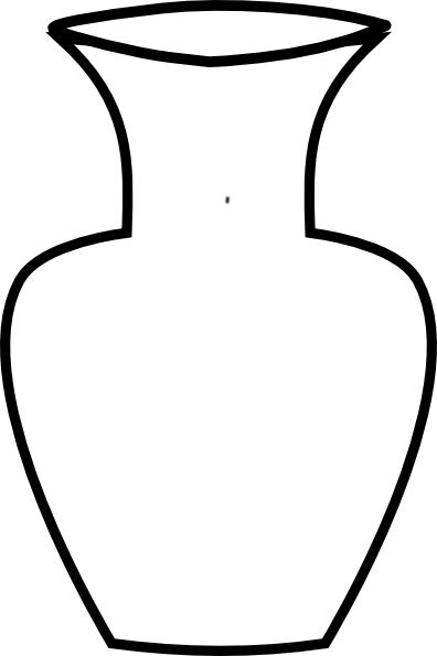 PNG: Small · Medium · Large - Flower Vase PNG Black And White