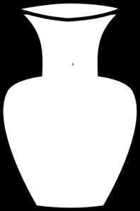 White Flower Vase Clip Art - Flower Vase PNG Black And White