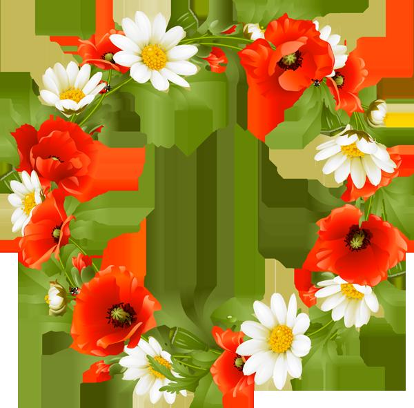 Bullet journals - Flower Wreath PNG HD
