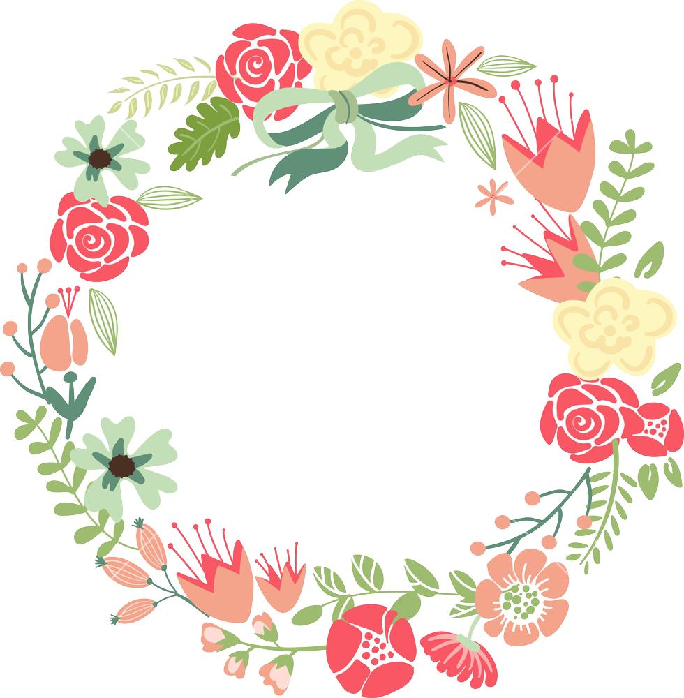 Floral Frame PNG HD - Floral PNG HD - Flower Wreath PNG HD
