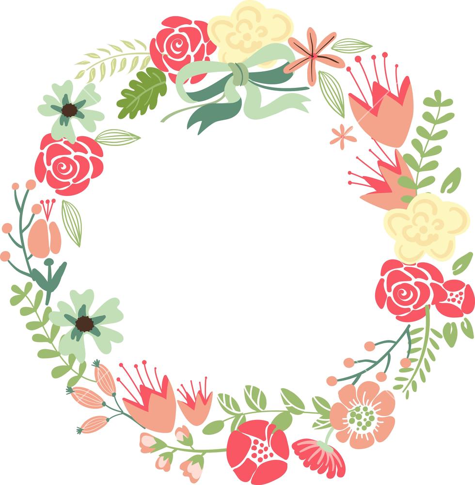 Flower Wreath PNG HD - 138067