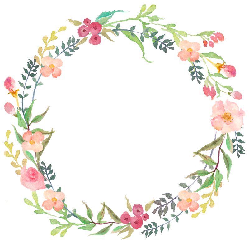 Delicate floral wreath, Beaut