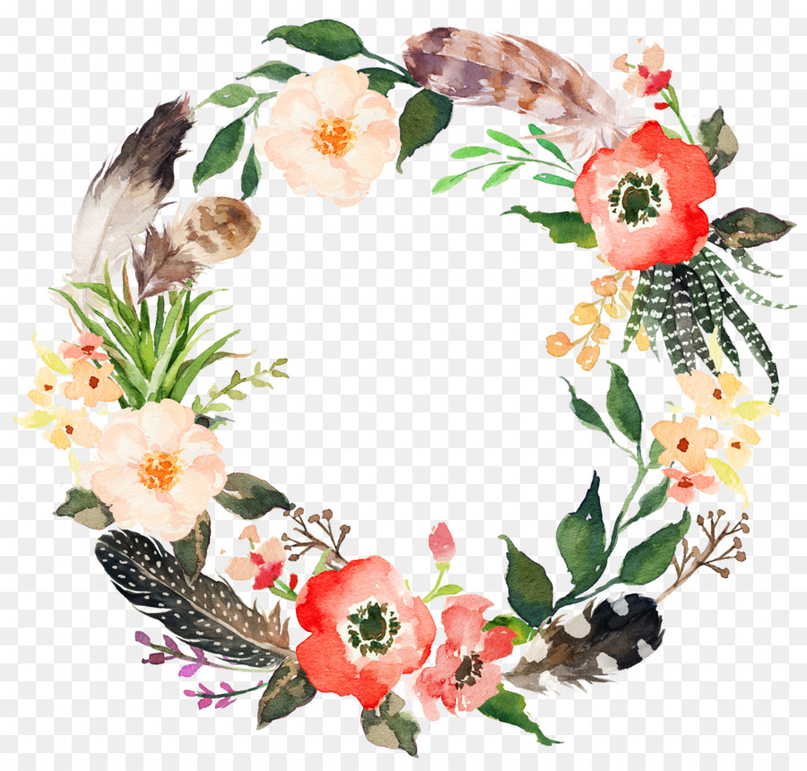 Flower Wreath Watercolor pain