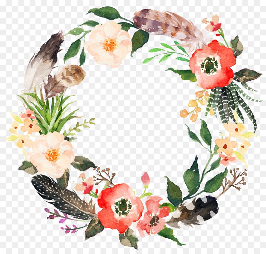 Flower Wreath PNG HD - 138068