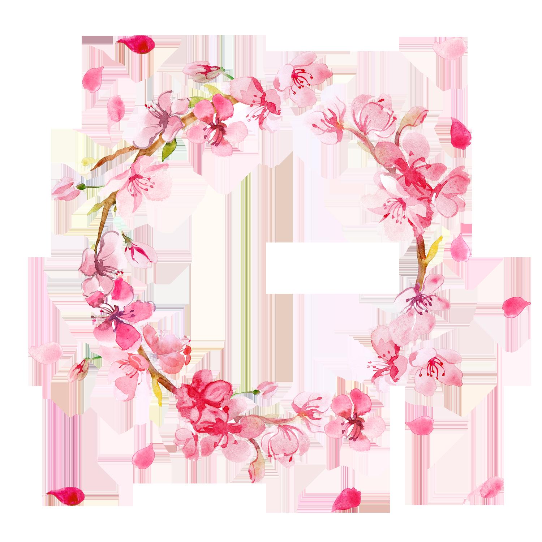 Free Pink Flowers Wreath PNG - Flower Wreath PNG HD