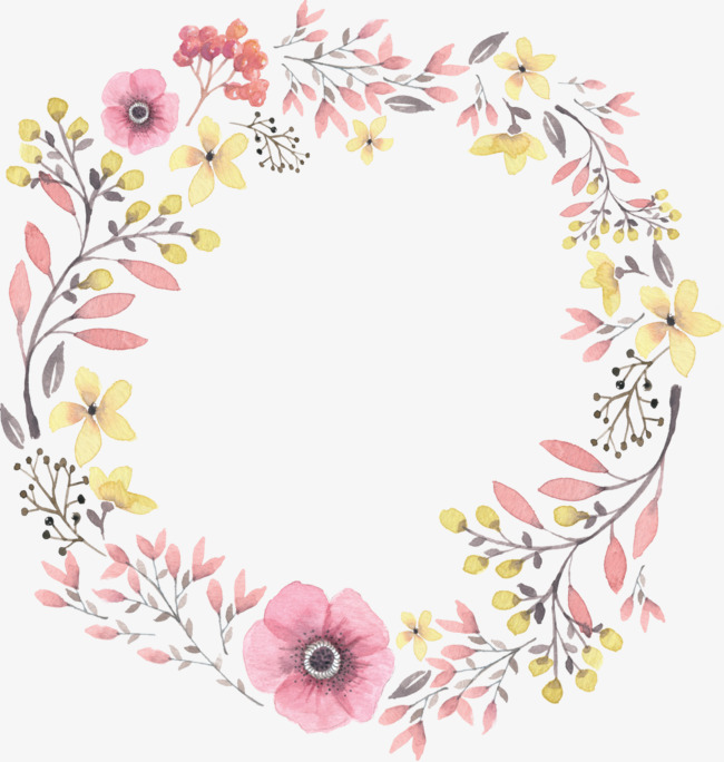 Flower Wreath PNG HD - 138071